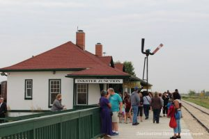 Inkster Station, The Great Train Robbery: a fun excursion on Manitoba's Prairie Dog Central Railway, a heritage train