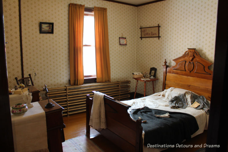 Cook's bedroom at Dalnavert Museum, Winnipeg,Manitoba