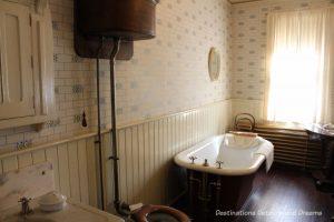 Bathroom at Dalnavert Museum, Winnipeg, Manitoba