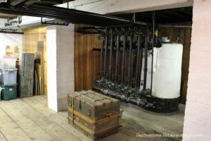 Original boiler in Dalnavert Museum, Winnipeg, Manitoba