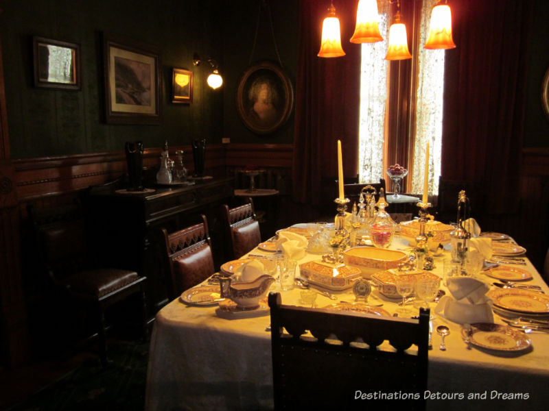 Dining table at Dalnavert Museum, Winnipeg, Manitoba