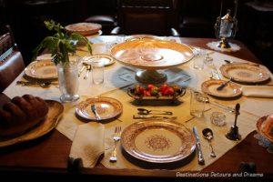 Dining table at Dalnavert Museum, Winnipeg, Manitoba