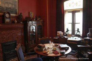 Hugh Macdonald's study in Dalnavert Museum, Winnipeg, Manitoba