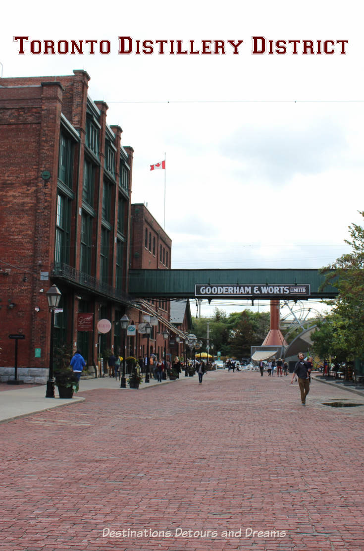 Toronto Distillery District: a Victorian industrial site in Toronto, Ontario is now an arts, culture and entertainment destination. #Toronto #entertainment