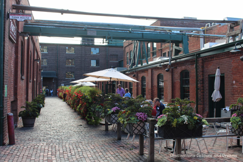 Toronto Distillery District: a Victorian industrial site in Toronto, Ontario is now an arts, culture and entertainment destination