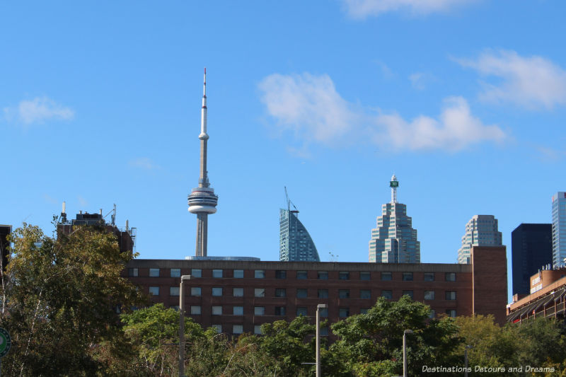 View of Toronto skyline for the Distillery District