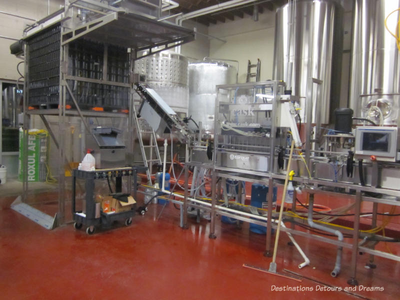 Winnipeg Ale Trail: canning machine at Torque Brewing Co.