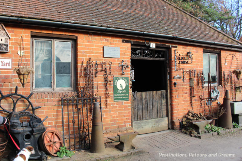 Henry's Yard - the forge at the Rural Life Centre in Tilford, Surrey showcasing over 150 years of British rural life