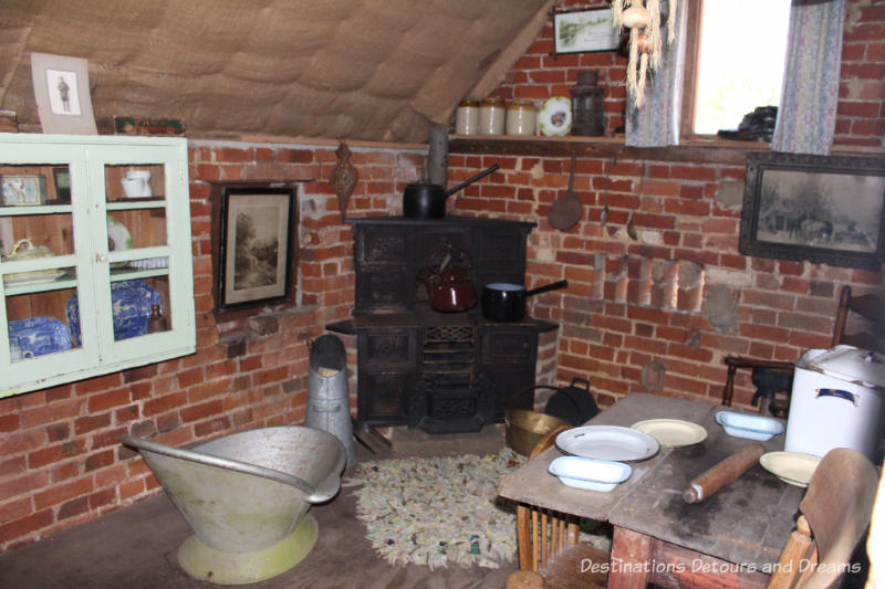 Display at the Rural Life Centre in Tilford, Surrey showcasing over 150 years of British rural life