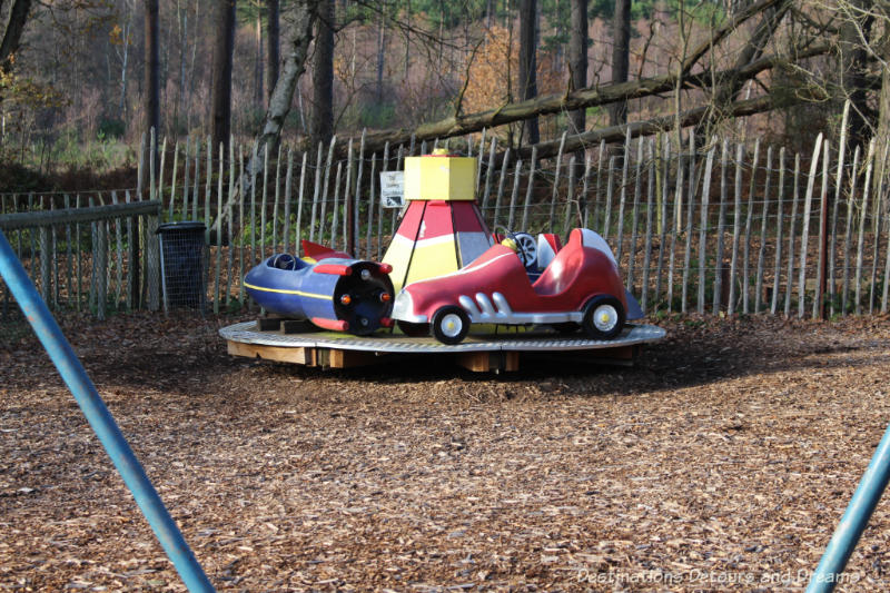 Playground at the Rural Life Centre in Tilford, Surrey showcasing over 150 years of British rural life