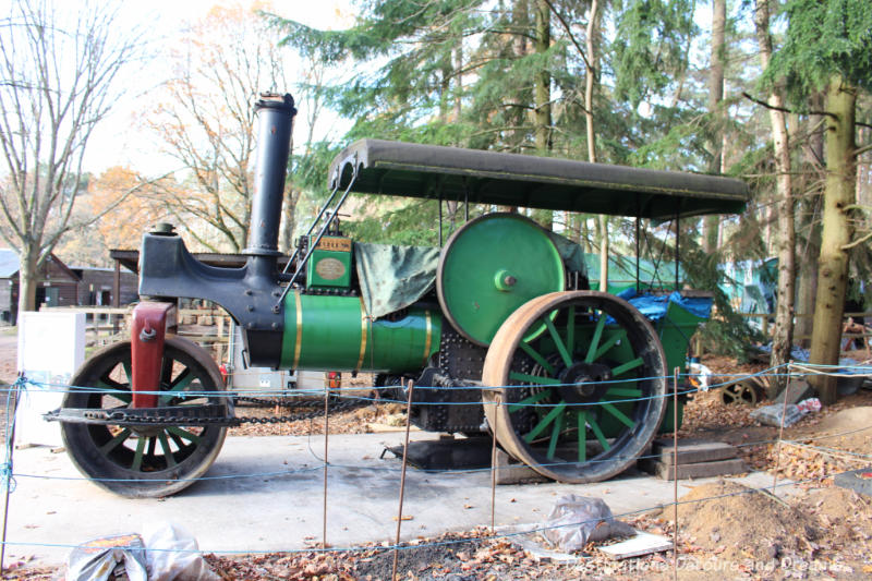 Aveling and Porter steam roller at the Rural Life Centre in Tilford, Surrey showcasing over 150 years of British rural life