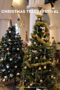 Festival of Christmas Trees at St. Andrew's Church in Farnham, Surrey, United Kingdom #Christmas #England