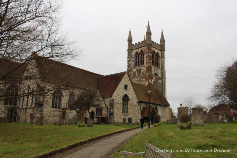 St. Andrews's Church, setting for Festival of Christmas Trees at St. Andrew's Church in Farnham, Surrey, United Kingdom