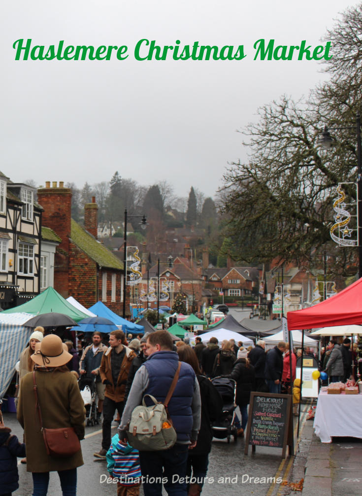 Haslemere Christmas Market: A lovely one-day community Christmas market in a rural British market town #Christmasmarket #market #Christmas #Surrey
