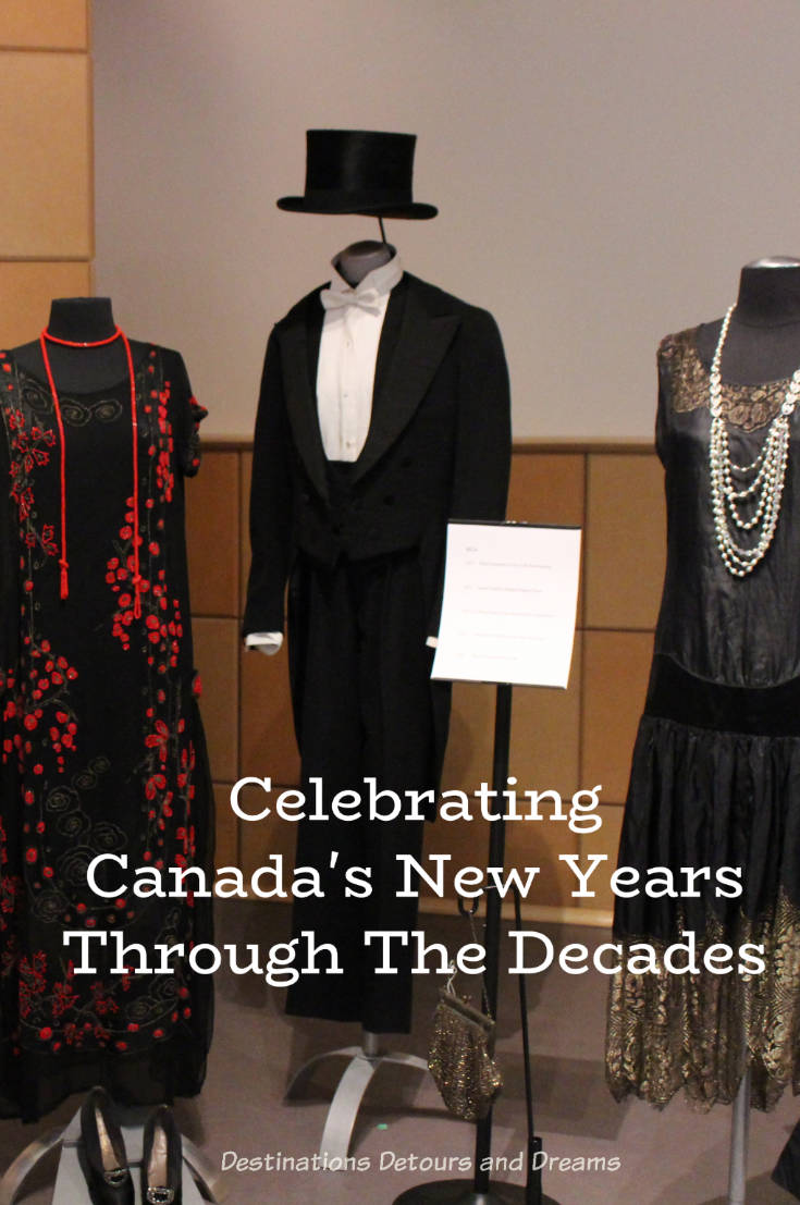 Dressing Up: Celebrating Canada's New Years Through The Decades. Highlights from the Eve of Elegance Exhibit by the Costume Museum of Canada. #costume #museum #Canada #NewYear