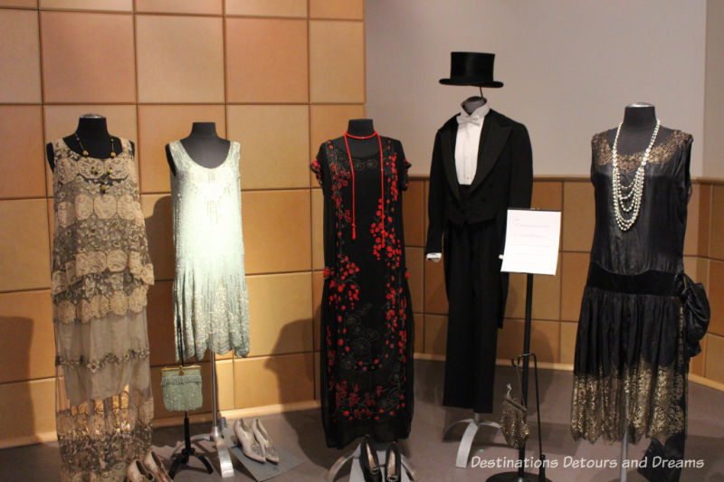 Styles from the roaring 1920s. Dressing Up: Celebrating Canada's New Years Through The Decades. Highlights from the Eve of Elegance Exhibit by the Costume Museum of Canada