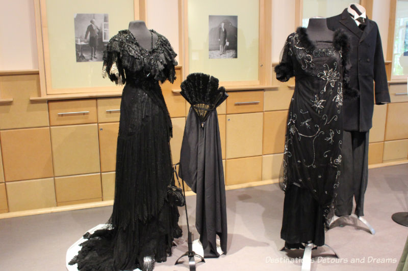 Dressing Up: Celebrating Canada's New Years Through The Decades. Highlights from the Eve of Elegance Exhibit by the Costume Museum of Canada. Formal attire from the period of 1897 to 1910.