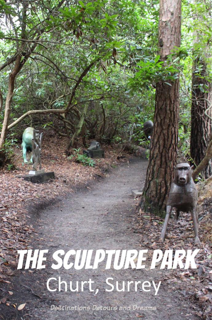 The Striking Serenity of the Sculpture Park in Churt: A woodland garden of eclectic sculptures in the rolling Surrey Hills #Surrey #art #sculpture #sculpturepark #Churt