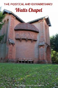The Mystical and Extraordinary Watts Chapel: a Cemetery Chapel in Crompton, Surrey designed as work of art by Mary Watts #Watts #chapel #Surrey #art