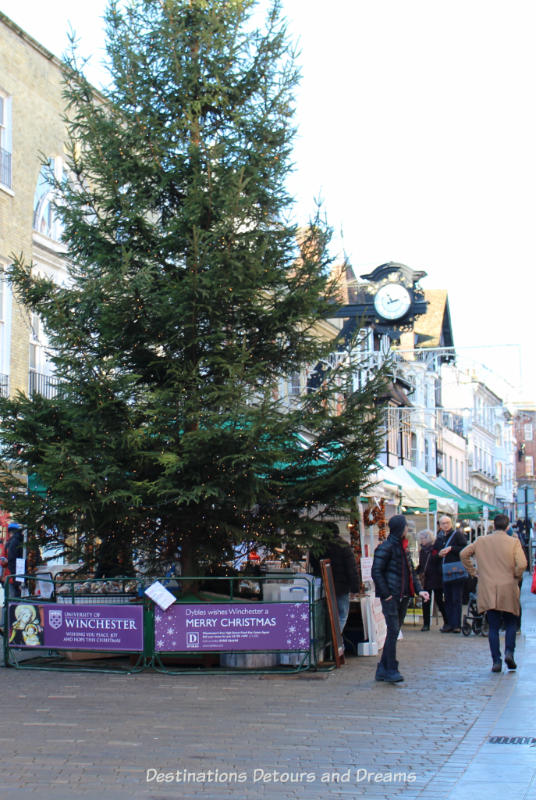 Winchester High Street at Christmas