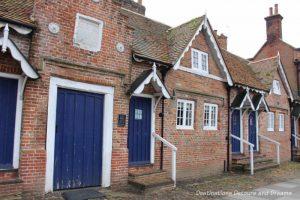Almshouses in Farnham. Augustus Toplady