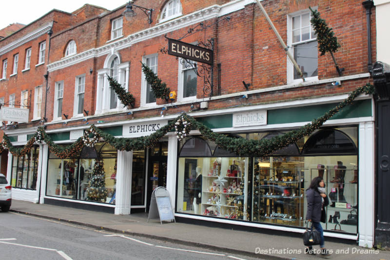 Elphicks Store. History and British Charm in Farnham. Farnham is a historic British market town located on the western edges of Surrey in the rolling Surrey Hills. It is known for its Georgian streets, historic buildings, craft heritage, and easy access to the North Downs Way