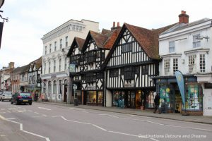 History and British Charm in Farnham. Farnham is a historic British market town located on the western edges of Surrey in the rolling Surrey Hills. It is known for its Georgian streets, historic buildings, craft heritage, and easy access to the North Downs Way.