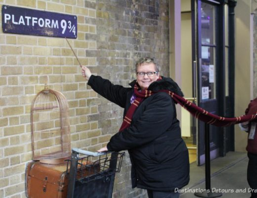 Platform 9 3/4/at King's Cross Station