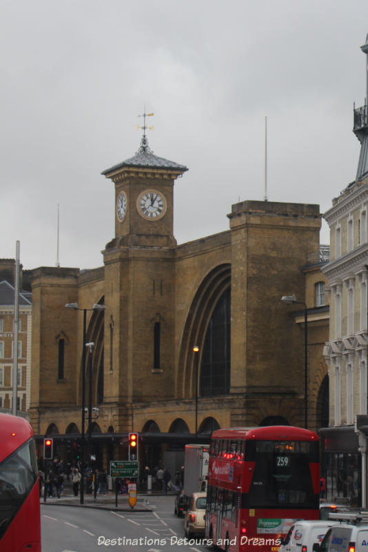 the historic King's Cross Station in London, England: Victorian architecture now also home to fictional Platform 9 3/4 fort he Hogwarts Express