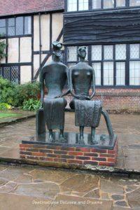 Henry Moore King and Queen sculpture at RHS Garden Wisley in Surrey, England