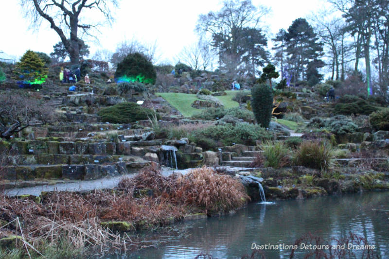 Rock garden at RHS Garden Wisley in Surrey, England
