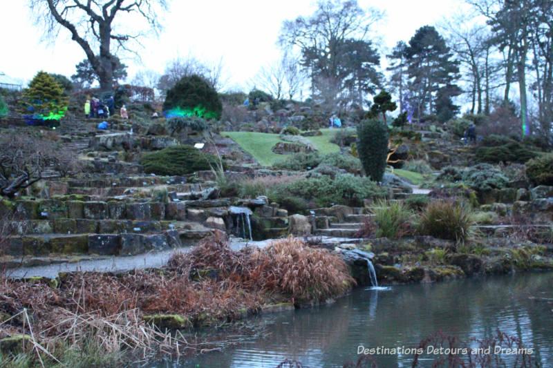 Rock garden at RHS Garden Wisley in Surrey, England
