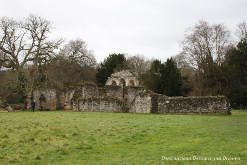 The Otherworldly Ruins of Waverley Abbey, Britain's first Cistercian monastery, located in the Surrey countryside near Farnham: monks' dormitory