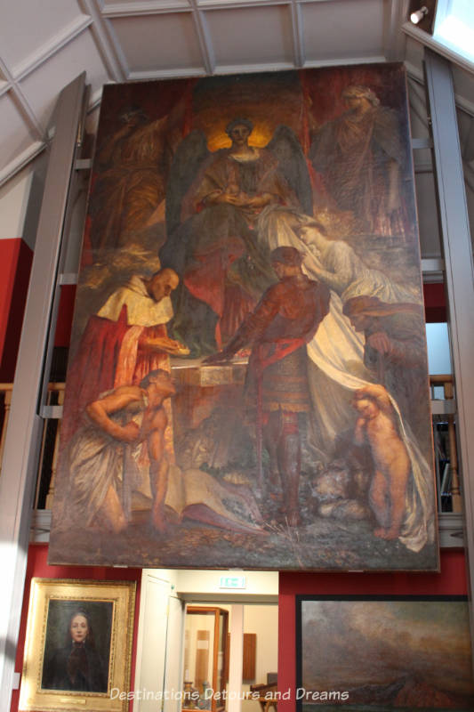 """""""Court of Death"""" by G F Watts at Watts Gallery - Artists' Village in Compton, Surrey"""