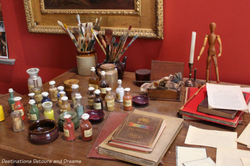 G F Watts desk at Watts Gallery - Artists' Village in Compton, Surrey