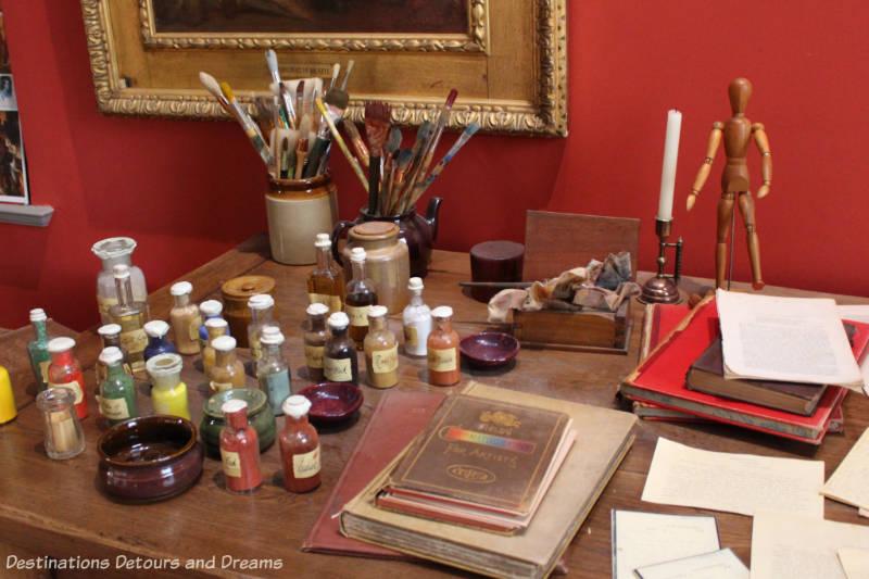 G F Watts desk at Watts Gallery - Artists' Village in Compton, Surrey