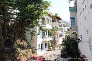 "Street in ""Gringo Gulch"" area of Puerto Vallarta"