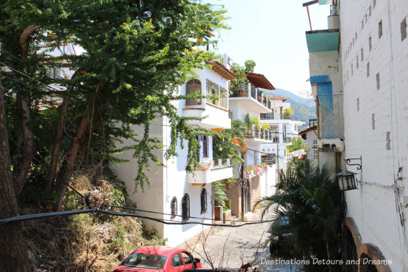 "Street in ""Gringo Gulch"" area of Puerto Vallarta"
