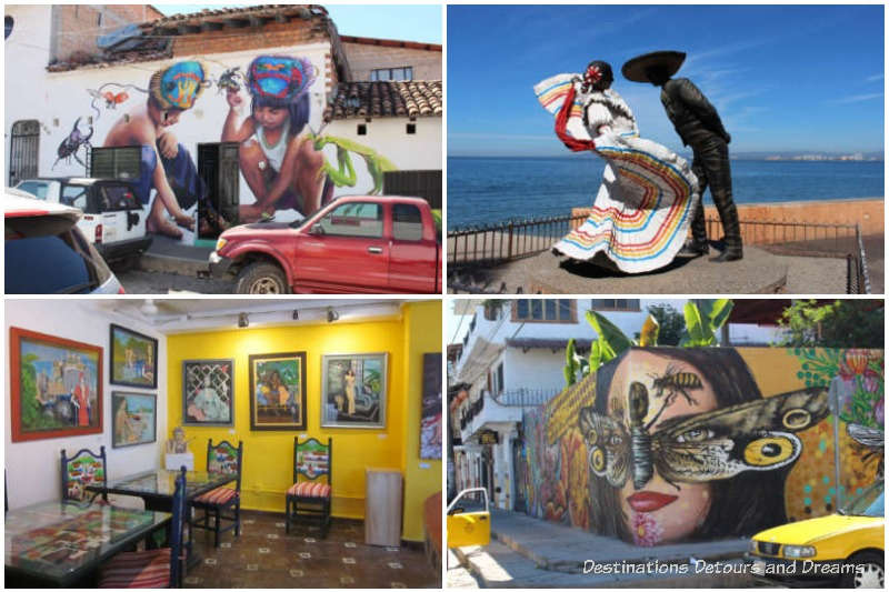 Impressions of Puerto Vallarta: art - street art, statues, galleries