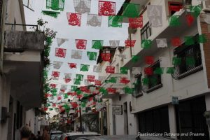 Impressions of Puerto Vallarta: colourful street banners