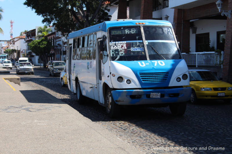 Impressions of Puerto Vallarta: a city bus