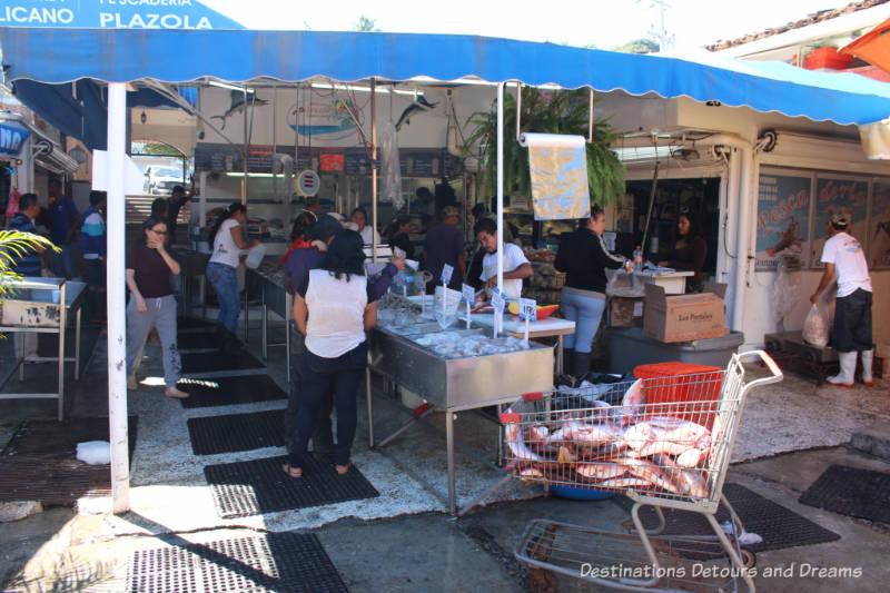 Impressions of Puerto Vallarta: fish market