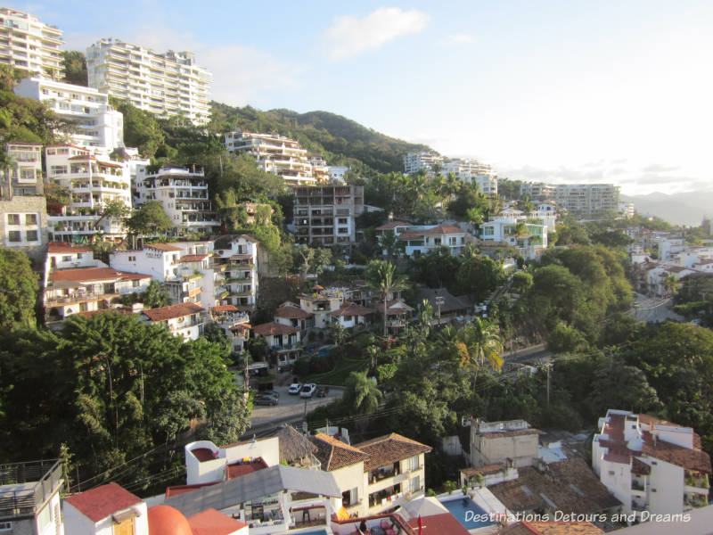 Impressions of Puerto Vallarta: hillside views