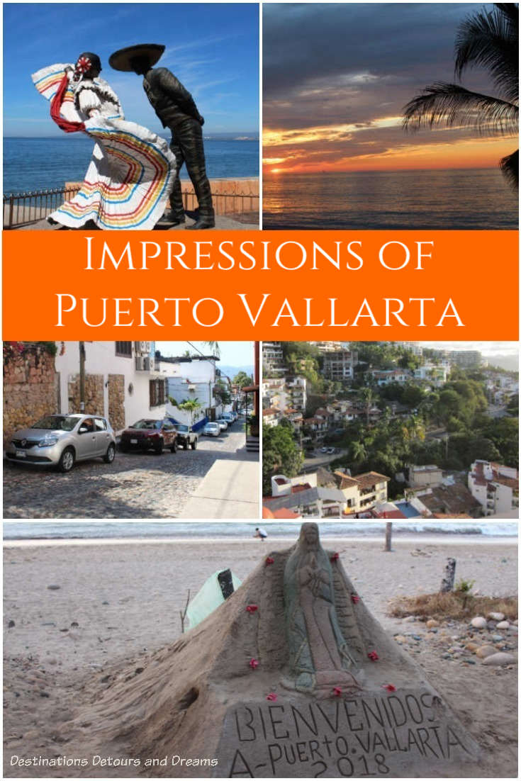 Impressions of Puerto Vallarta: beach, hills, sunsets, art