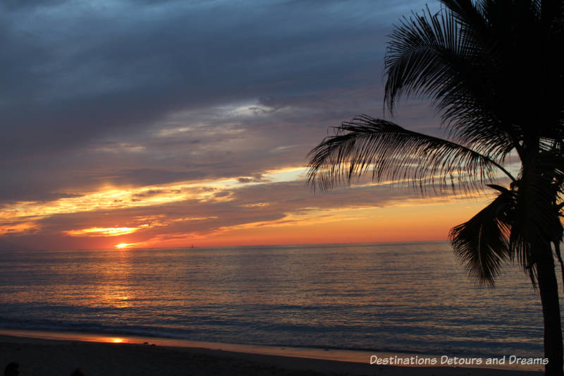 Impressions of Puerto Vallarta: brilliant sunset