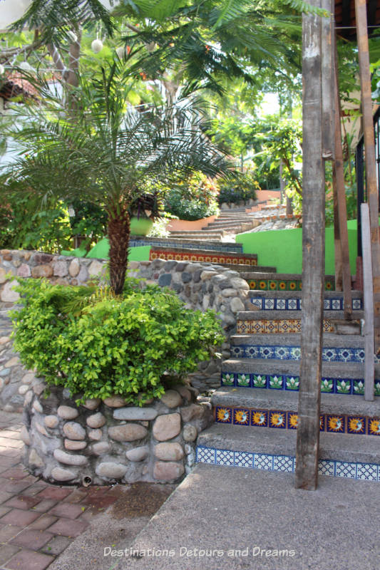 Impressions of Puerto Vallarta: tiled staircase