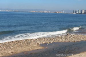 Impressions of Puerto Vallarta: waves against the shore