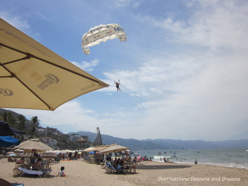 Parasailing at Puerto Vallarta, Mexico