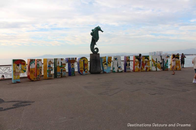 Puerto Vallarta sign along the Malecon - a dozen things to do in Puerto Vallarta, Mexico