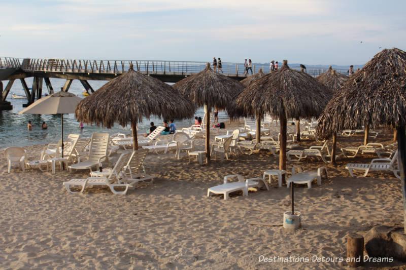 The beach at Puerto Vallarta, Mexico